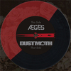 "Aeges / Dust Moth - Bad Blood 7"" (Half Red / Half Black 